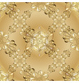 pattern on yellow colors with golden elements vector image