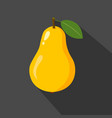 pear cartoon flat icondark background vector image vector image