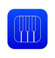 piano keys icon blue vector image vector image