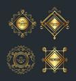 premium and elegance set frames vector image vector image