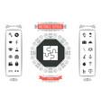 puzzle icon symbol vector image vector image
