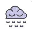 rain and clouds icon design 48x48 pixel perfect vector image