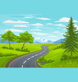 road to mountain landscape with asphalt road vector image vector image