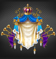 royal dynasty house emblem 3d realistic vector image vector image