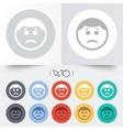 Sad face sign icon Sadness symbol