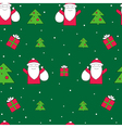 Santa Claus seamless pattern Christmas holidays vector image