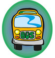 school bus eps 10 vector image