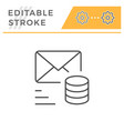 sending money editable stroke line icon vector image vector image