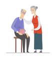 senior people having financial problems - flat vector image