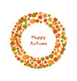 set of bright autumn leaves set of bright autumn vector image vector image