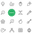 Set of Garden Elements can be used as Logo or Icon vector image vector image