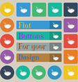 Spaghetti icon sign Set of twenty colored flat vector image