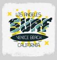 surf venice beach los angeles california desig vector image vector image