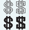 The dollar sign vector image