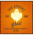The Spooky Glowing Ghost Abstract Vintage vector image vector image