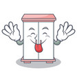 tongue out cabinet character cartoon style vector image vector image