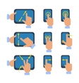 Touchscreen gestures icons set vector image vector image
