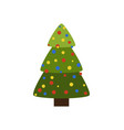 tree icon symbol of christmas holiday with balls vector image vector image