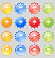 Umbrella icon sign Big set of 16 colorful modern vector image vector image