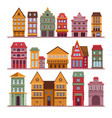 urban architecture town buildings houses and vector image vector image