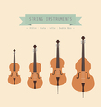 violinfamily vector image vector image