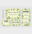 wedding invitation flowers yellow dahlia fern vector image vector image