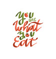 you are what you eat - color flat hand drawn vector image