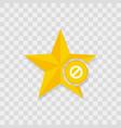 star icon prohibition icon vector image