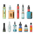 e cigarettes and different electric tools for vector image