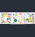 abstract of colorful geometric pattern bundle set vector image