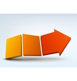 Abstract with 3d arrow and vector image vector image