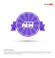 ambulance icon - purple ribbon banner vector image vector image