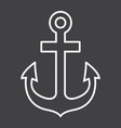 anchor line icon navigation and nautical vector image vector image