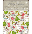 background with christmas elements and label vector image