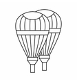 Balloons icon outline style vector image vector image