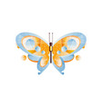 beautiful butterfly with blue and orange wings vector image vector image