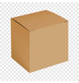 blank cardboard box mockup realistic style vector image vector image