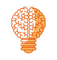 brain bulb inspiration creativity image vector image