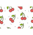 cherry seamless pattern vector image vector image
