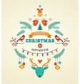 Christmas design with birds elements ribbons and