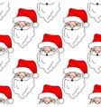 Christmas seamless pattern with cartoon Santa vector image vector image