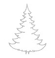 christmas tree and happy new year decoration vector image