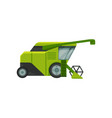 combine harvester stage of bread production vector image
