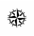 compass with mono line style logo design vector image vector image