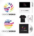Creative Arrows Sphere Logo Design Sphere Arrows vector image
