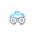 cross country vehicle thin line stroke icon vector image vector image