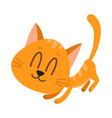 cute and funny red cat character fawning asking vector image