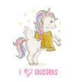 cute unicorn pony cartoon horse icon magic vector image vector image
