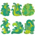 decorative waves vector image
