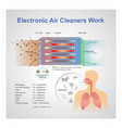 electronic air cleaner work vector image vector image